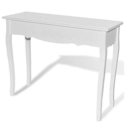 GOTOTOP - Tavolo da consolle da toeletta, in legno, per camera da letto, corridoio, soggiorno, ingresso, ufficio, 100 x 35 x 78 cm