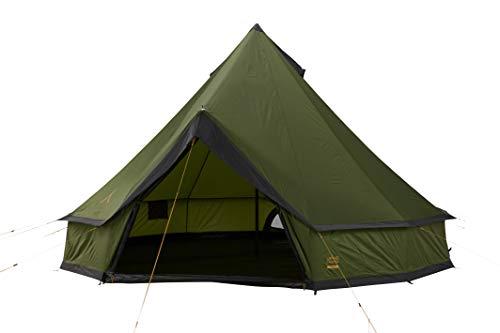 Grand Canyon Indiana 8 - Rundzelt für 8 Personen | Familien-Zelt, Gruppen-Zelt, Pyramidenzelt, Tipi | Capulet Olive (Grün)