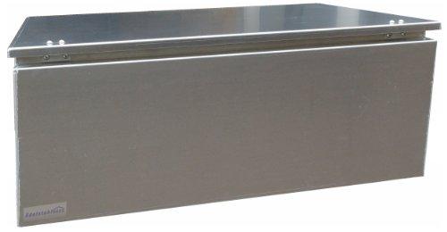 ADE - Premium Deichselbox von Edelstahlhaus, Transportbox, Alubox für PKW Anhänger D2A20N100-075-35-40 - 4