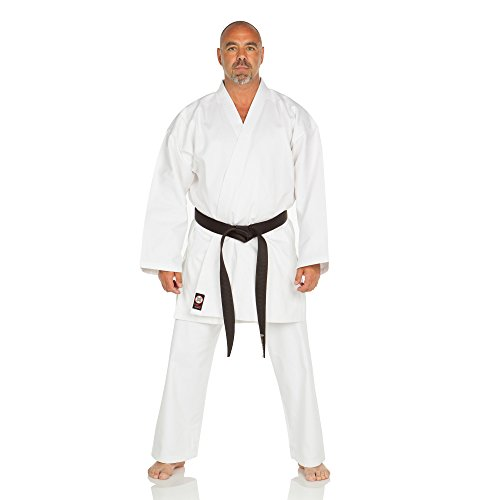 Ronin Karate Gi - Lightweight Student Karate Uniform - Professional Quality Made Kimono - Advanced 100% Cotton Martial Arts Kit Style Karate Training for Adults & Kids.(White/1)