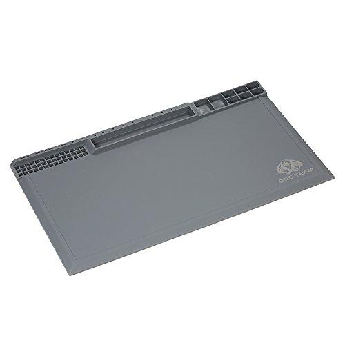 Romacci 380 * 210mm Almofada de Silicone com Isolamento Térmico para Solda BGA Reparando Tapete de Estação de Solda Plataforma de Manutenção de Alta Temperatura com Entalhes de Parafuso