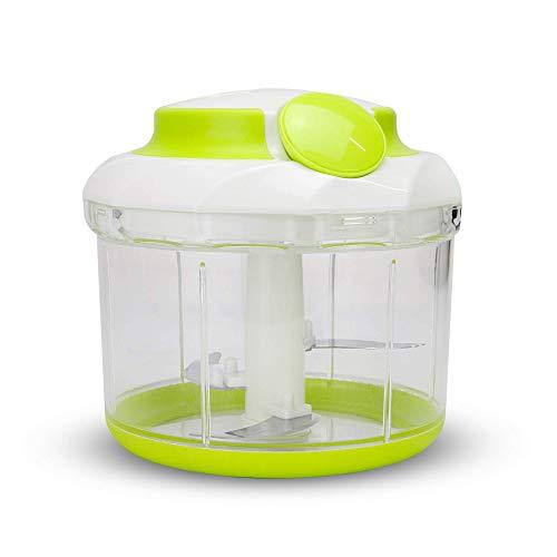 Hachoir à nourriture manuel | Mélangeur à main | Mini robot culinaire | Hachoir pour Salade | Coupeur de légumes | Hachoir pour oignons | Hachoir Puissant | M&W