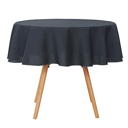 UMI Amazon Brand Manteles Mesa Rectangular de Cocina para Restaurantes 160cm Gris Oscuro