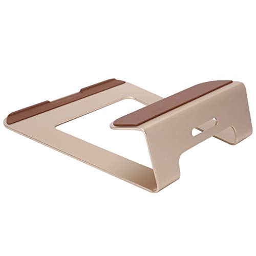 Aluminum Alloy Laptop Stand, Multi‑Position Adjustable Riser Stand Desktop Folding Heighten Holder Bracket Cooling Rack for 11-15inch Notebook Tablet