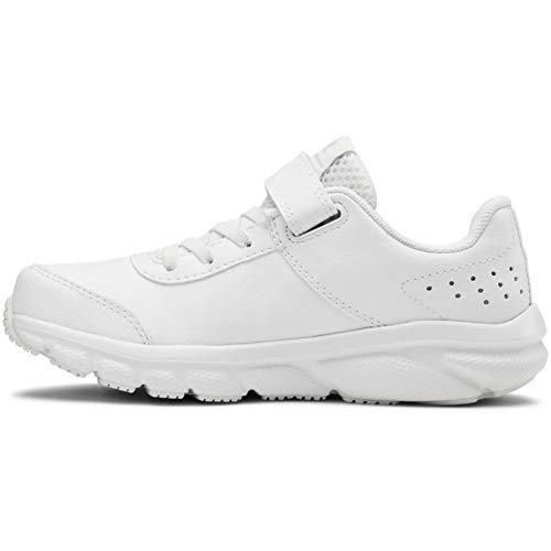 Under Armour Pre School Assert 8 UFM SYN Alternate Closure Sneaker, White (100)/White, 12.5 US Unisex Little Kid