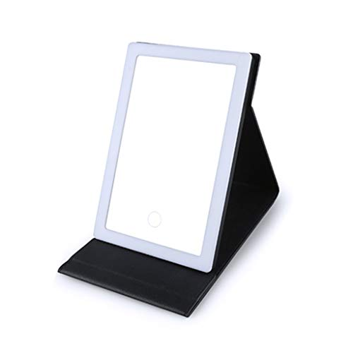 Mirror Miroir De Maquillage/Miroir De Coiffure/Miroirs Cosmétiques À Poser Miroir De Maquillage Pliant En PU