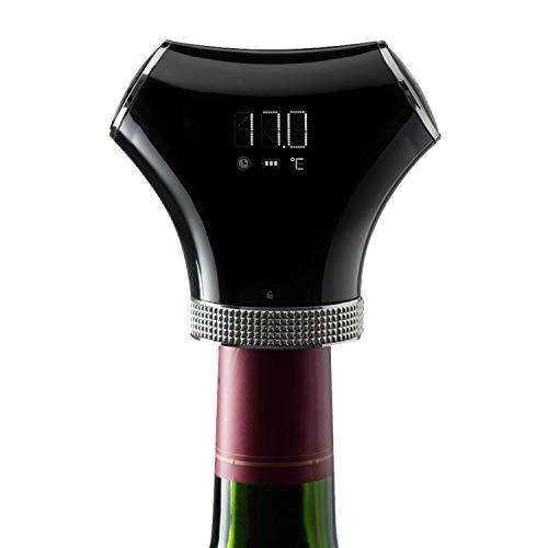 Bouchon pompe à vin - Climadiff - Pompe à air intelligente + deux bouchons - Coffret conservation du vin - Arrêt automatique - Rechargeable par USB - Conservez le vin de vos bouteilles entamées !