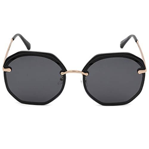 Faus Koco Gafas De Sol Decorativas Multilaterales De UV400 Half Frame Fashion Polarized Sunglasses Women