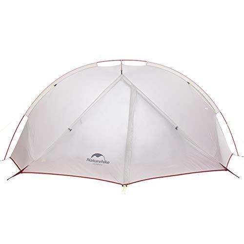 Tagar Zelt Aktualisierte Version 3 Jahreszeiten, Wasserdichtes Zelt im Freien Aluminiumpfosten Ultraleichtes 20D Silikon Camping Zelt für 2 Personen(Silber, 2 Personen)