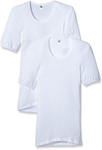 Trigema Herren 6621002 Unterhemd, Weiß (Weiss 001), Medium (Herstellergröße: 6) (2er Pack)