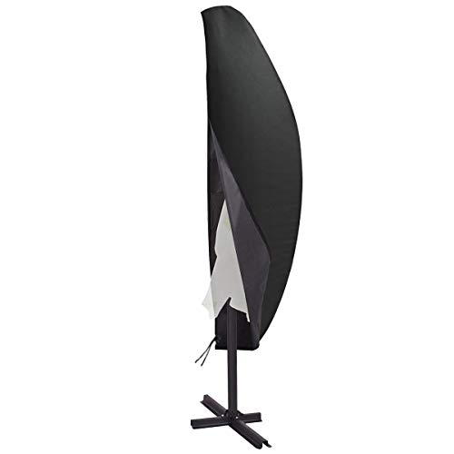 TEPSMIGO Schutzhülle für Sonnenschirm, Abdeckhauben für Sonnenschirm wasserdichte 210D Polyester TAFT Schwere Schutzhülle für Ampelschirm