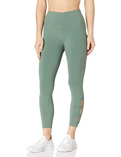 Skechers Women's Gowalk High Waisted 7/8 Slit Legging, Light Green, L