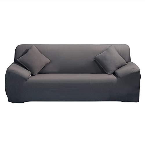 ele ELEOPTION Sofa Überwürfe Sofabezug Stretch elastische Sofahusse Sofa Abdeckung in Verschiedene Größe und Farbe Herstellergröße195-230cm (Grau, 3 Sitzer für Sofalänge 170-220cm)