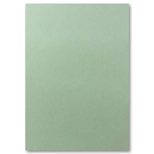 50x DIN A4 Papier Planobogen - Eukalyptus - 110 g/m² - 21 x 29,7 cm - Bastelbogen Ton-Papier Fotokarton Bastel-Papier Ton-Karton - FarbenFroh