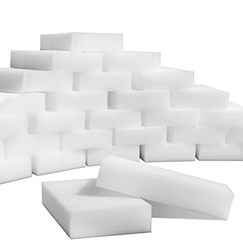 SmilePowo 100 Pack Magic Cleaning Sponges Eraser,Multi-Functional Premium Melamine Sponge Foam Cleaning Pads,Dish,Household Cleaning Sponge for Kitchen,Furniture,Bathroom(Universal Cleaner)