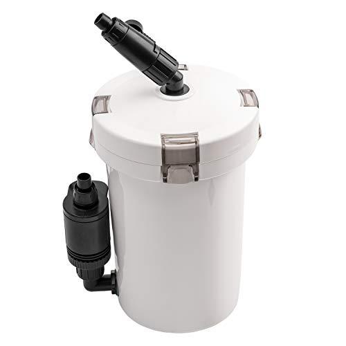 NICREW Aquarium Außenfilter, Einstellbarer Durchfluss Aquarienfilter mit Filtermaterial, 400 L/h