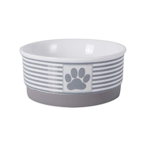 Bone Dry Stripes Ceramic Pet Bowl
