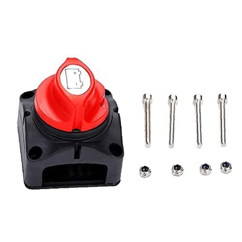 Sraeriot Batería Aislador Interruptor 48v Batería Desconecte Master Power Off Switch Kit Para Automóviles Interruptor De Encendido