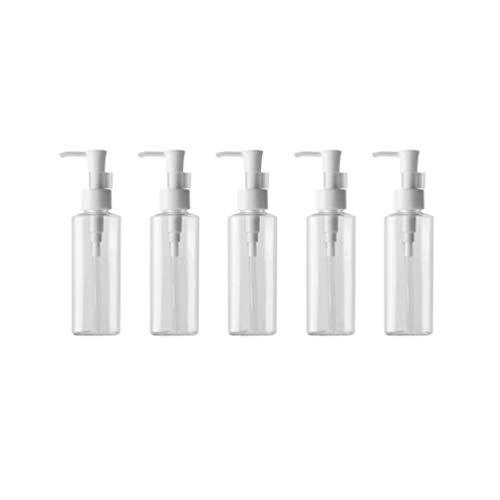 Minkissy 500ML Seifenspender wiederbefüllbar Schaumseifenspender Kunststoff mit Pumpkopf für Küche Bad Kosmetik Lotionen Shampoo Spülung Cremes Flüssigkeit 5 Stück
