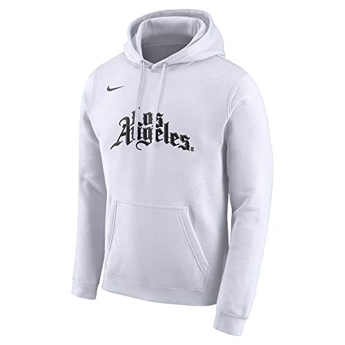 Clippers 2019-2020 Men's NBA City Edition Club Pullover Hoodie (X-Large) White