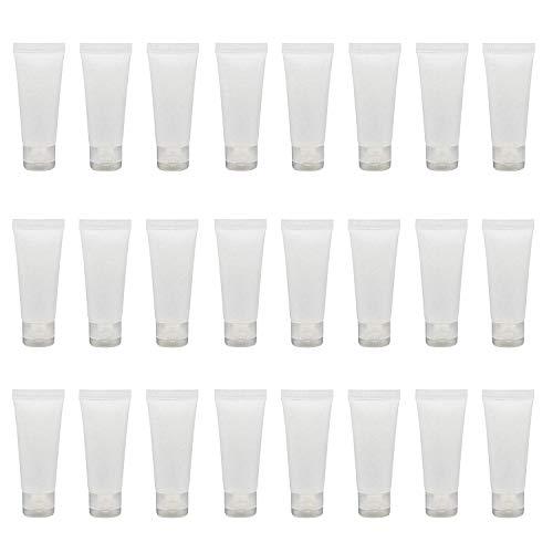 Leere, tragbare und nachfüllbare Kunststoff-Flaschen mit Klappdeckel, 100 ml, 24 Stück, durchsichtig (Transparent) - UJY17492TRANSPARENT