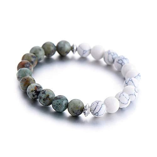 WHFDRHSZ Armband armbanden parels armbanden voor vrouwen Unieke 2 kleuren elastische ketting armband lava steen armbanden voor mannen geschenken sieraden