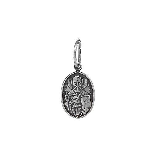NKlaus Pendentif d'icône orthodoxe Saint Nicolas en argent sterling 925 petit nouveau 36250