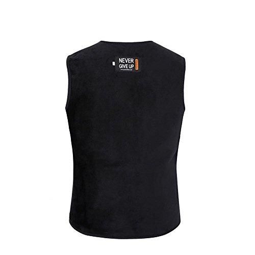 Tbest Unisex elektrisch verwarmd vest, mannen vrouwen verwarmer veilig ingebouwde elektrische plaatverwarming verwarmd vest L