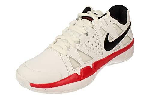 Nike Air Vapor Advantage Clay, Scarpe da Tennis Uomo, Multicolore (White/Black/University Red 106), 44.5 EU