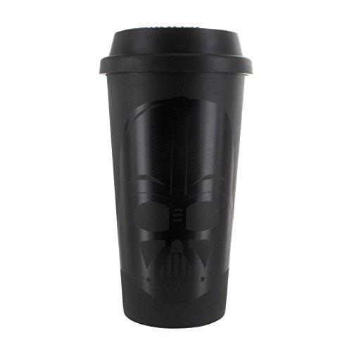 Paladone Darth Vader Reisebecher, Plastik, Mehrfarbig, 9 x 9 x 17 cm