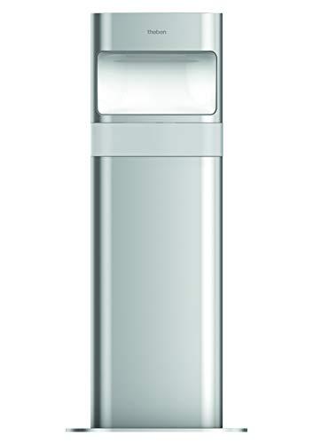 Theben 1020905 theLeda D B AL - LED-Poller-Leuchte (kurz) mit Bewegungsmelder, Gartenleuchte, 8.5 Watt, aluminium