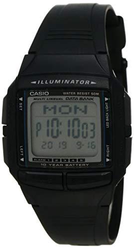 Relógio Masculino Digital Casio Data Bank DB-36-1AV - Preto