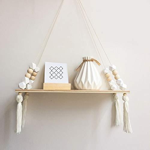QWERTYU LIFUQIANGME Twine Houten Muur Plank Bloempot Rack-Nordic Stijl Magazijnstelling Kamer Opslag Organisatie Plank Huis Muur Opknoping Dekor Schaukel (Kleur : C)