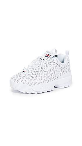 Fila Women's Disruptor II Multi Sneakers, White Navy Red, 7 Medium US