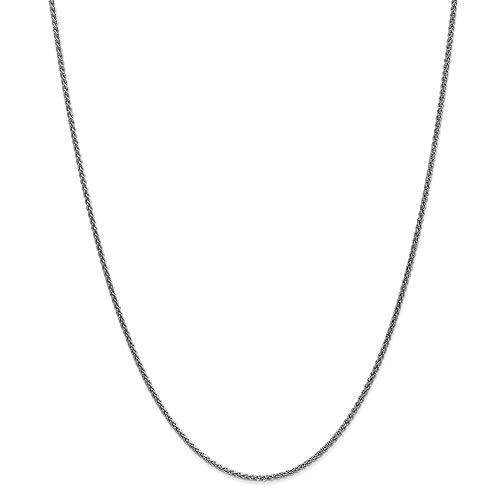 Collar de cadena de espiga de oro de 14 quilates, 1,65 mm, regalo para mujer, 66 cm