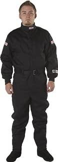 G-Force 4125LRGBK GF 125 Black Large Single Layer Racing Suit