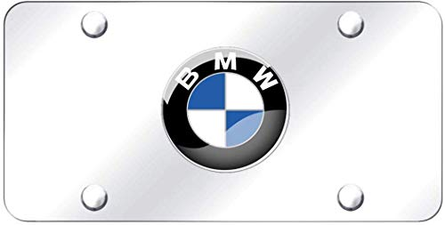 Heavy 3D Carbon Fiber Grain License Plate Cover for BMW Stainless Steel License Plate with Screw and Caps to Personalize Your BMW License Plate Frame