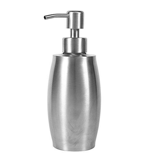Zerodis Edelstahl Seifenspender für Shampoo Flüssigseife Pumpe Küche Badezimmer Wiederbefüllbar Hochwertig Lotionspender 350mL