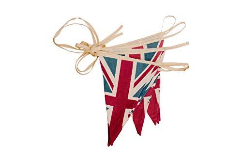 ASVP Shop Wimpelkette/Girlande Britischer Flagge/Union Jack im Vintage-Design aus Stoff, Retro