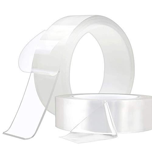 ASKRefine 両面テープ 幅5cm×長3m×厚2mm 1個/2個/3個 両面粘着テープ 超強力粘着魔法テープ 防水 テープ 多機能テープ はがせる両面テープ 透明両面テープ のり残らずカーペットテープ 耐熱 滑り止め 強力 防水用両面テープ 強力のり