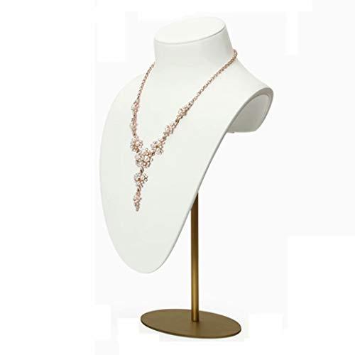 ZDNB Exhibición de Collar Colgante Cadena Busto Soporte Soporte Modelo de joyería Organizador para boutiques, Estilo Blanco Dos, 20 cm × 10 cm × 44 cm