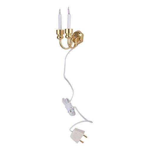 Applique Bicéphale Lampe Murale Miniature Accessoire pour 1:12 Maison de Poupée