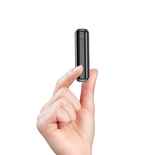 Heganus Power Bank Mini 5000mAh Cargador Portátil Batería Externa Peso Ligero [Lipstick-Size] con Salida de 2.4A Carga rápida para, Samsung, Xiaomi, Huawei, Tablets y más l