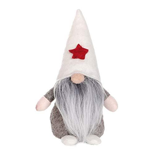 Blanchel - Bambola di Natale a forma di gnomo svedese, con barba lunga, in peluche, elfo nordico Nisse, decorazione per le vacanze A3
