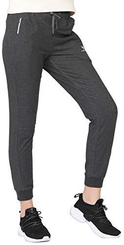 CAMEL CROWN Damen Fleece Jogginghose Hohe Taille Sporthose Sweathose Freizeit Hose Baumwolle Lang Winter Damenhose für Jogging Laufen Fitness Traininghose mit Taschen