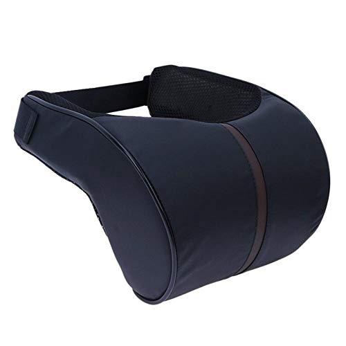 WSS Shoes Viaje Almohada Almohada para 1 PC de la Cabeza del Coche del Cuello del Coche del Soporte del Asiento Amarillo (Color : Black)