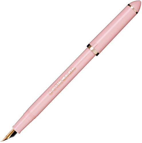【名入れ無料】【ラッピング不可】【名前入り】セーラー万年筆 美工筆 ふでDEまんねん 40度 パールピンク 両用式