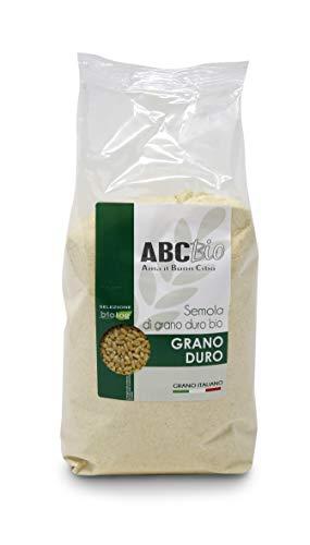 Carioni Food & Health Harina de sémola de Trigo Duro ecológico - 1 kg (Paquete de 6 Piezas)