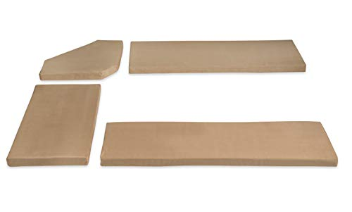 Linon Henry Cushion Beige Microfiber Nook NOT Included Cusion Set,