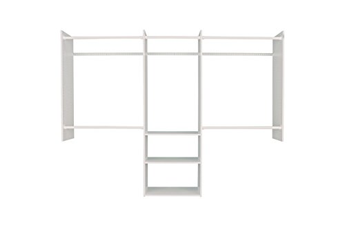 Easy Track 4'-8' Deluxe Starter Kit Closet Storage, 4, White